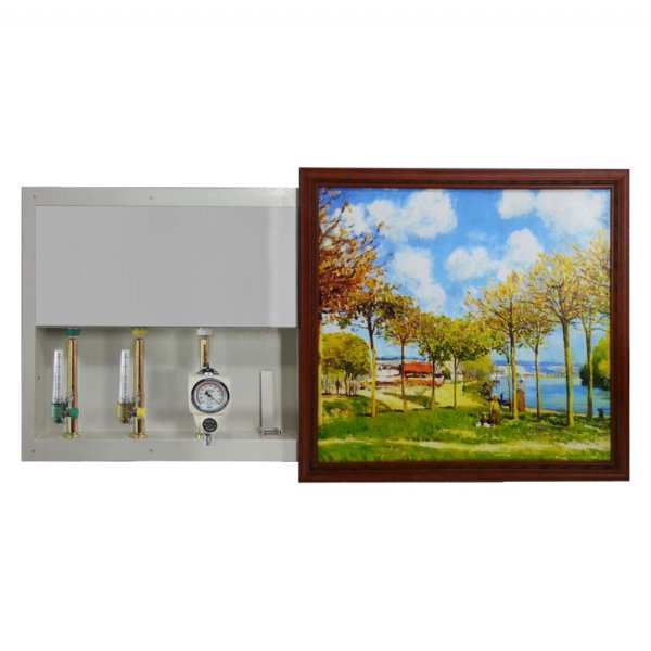 Gas outlet panel_Mural type gas outlet (one-way sliding door)