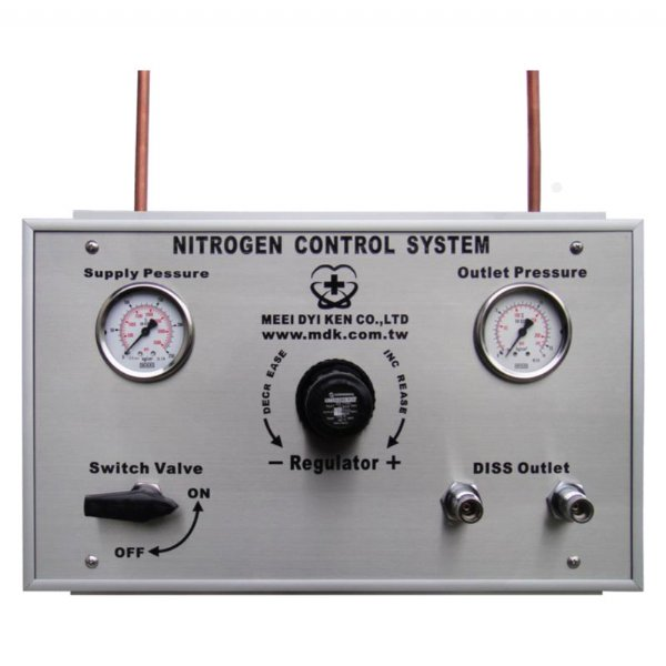 Operating Room Dedicated Dual DISS Nitrogen Outlet Control Panel